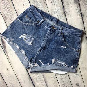 Wrangler high rise cut off shorts